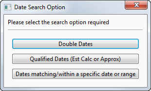 Date Search and Return Result Set